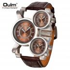 Мужские Часы Лучший Бренд Класса Люкс Известный Тег мужская Военные Часы 3 Часовой пояс Водонепроницаемый Мужчины Часы Кожа Кварцевые Часы человек