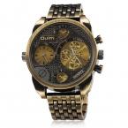 Oulm Luxury Brand Парни Весь Стали Смотреть Золотой Большой Размер Античная Мужчины Случайные Часы Военные Наручные Часы Relogio Masculino
