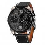 Oulm Мужские Дизайнерские Часы Роскошные Часы Мужские Случайные Кожаный Ремешок Часов Малые Циферблаты Украшения Кварцевые Часы reloj hombre
