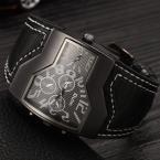 Oulm Марка Кварцевые Часы Мужчины Площади Набора Военные Наручные Часы Несколько 2 Часовой пояс Мужские Дизайнерские Часы Роскошные Часы