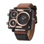Oulm Ткань Ремень Мужской Квадратных Часы Мужские Часы Лучший Бренд Роскошных Часов Известных Брендов Дизайнер Часы Случайный Человек Часы