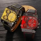 Оригинал OULM Марка Военные Часы Япония Кварцевый Механизм Спортивные часы мужские Наручные Часы Мужской Relogios Masculino