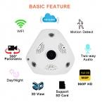 SUNCHAN WI-FI Крытый Fisheye Камеры Безопасности 960 P Ip-камера 1.3MP Беспроводной Панорамный VR Камеры Удаленного Просмотра Бесплатное ПРИЛОЖЕНИЕ для Смартфона
