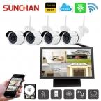 SUNCHAN 4CH Камеры Системы Безопасности 4*960 P Ip-камера 4CH CCTV NVR Комплект 1.3MP WIFI Открытый Камеры Системы Видеонаблюдения Комплект 1 ТБ HDD
