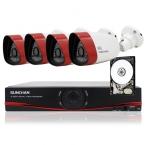 SUNCHAN 4CH NVR Открытый 720 P HD Ip-сети PoE 1280*720 Главная Безопасность Камеры Системы Открытый Водонепроницаемый Видеонаблюдения DVR Kit 1 ТБ