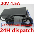 20 В 4.5A 90 Вт 7.9*5.5 Replacment Ноутбук AC Адаптер Питания Зарядное Устройство для Lenovo thinkpad T400 T500 R400 R500 SL300 SL400 SL500 w500