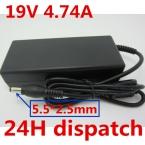 19 В 4.74A 90 Вт Универсальный Адаптер ПЕРЕМЕННОГО Зарядное Устройство для TOSHIBA SATELLITE A300 A500 L500 Ноутбук Бесплатно Shiiping
