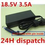 Оригинальное качество 18.5 В 3.5A Автомобильное Зарядное Устройство Для hp CQ35 G50 G60 G61 G70 DV4 DV5 DV6 DV7 4310 s 4410 s 4415 s 4416 s 4510 s 4515 s