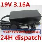 Оригинальное качество 19V3. 16A Для Samsung 19 V 3.16A 5.0 черный Replacment Зарядное Устройство Разъем 5.0 pin БЕСПЛАТНАЯ ДОСТАВКА