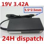 Оптовая 19 В 3.42A 5.5X2.5 мм Ноутбук Зарядное Устройство AC Адаптер Питания Для acer/toshiba/lenovo/asus aspire 1640 PA-1750-04