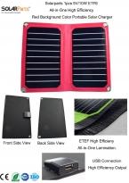 Solarparts 1x5 В/10 Вт Красный цвет фона ETFE lamianted все-в-одном высокая эффективность солнечное зарядное устройство 12 В панели солнечных батарей гибкая