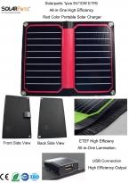 Solarparts 1x5 В/10 Вт Красный цвет ETFE lamianted все-в-одном высокой эффективности портативные солнечное зарядное устройство 12 В панели солнечных батарей гибкая