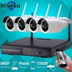 960 P Беспроводная Система ВИДЕОНАБЛЮДЕНИЯ 4ch Мощный Беспроводной NVR Ip-камера ИК-Пуля Камеры ВИДЕОНАБЛЮДЕНИЯ Безопасности Дома Системы Видеонаблюдения Комплекты
