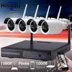 1080 P Беспроводная Система ВИДЕОНАБЛЮДЕНИЯ 2 ТБ HDD 4CH 2-МЕГАПИКСЕЛЬНАЯ Мощный NVR IP ИК-Пуля Камеры ВИДЕОНАБЛЮДЕНИЯ IP Система Видеонаблюдения Комплекты hiseeu