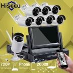 7 Дюймов Displayer 8-КАНАЛЬНЫЙ 720 P Беспроводной Системы ВИДЕОНАБЛЮДЕНИЯ Беспроводной NVR Ip-камера ИК-CUT Пуля Главная ВИДЕОНАБЛЮДЕНИЯ Системы Безопасности Комплект Hiseeu
