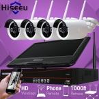 10 Дюймов Displayer 4CH 720 P Беспроводной Системы ВИДЕОНАБЛЮДЕНИЯ Беспроводной NVR Ip-камера ИК-CUT Пуля Главная ВИДЕОНАБЛЮДЕНИЯ Системы Безопасности Комплект Hiseeu