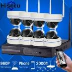 Hiseeu 8-КАНАЛЬНЫЙ 960 P HD Беспроводная Ip-камера Системы ВИДЕОНАБЛЮДЕНИЯ Беспроводной ИК-Пуля Камеры ВИДЕОНАБЛЮДЕНИЯ Главная Система Видеонаблюдения NVR комплект