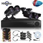 Hiseeu 4CH КОМПЛЕКТ ВИДЕОНАБЛЮДЕНИЯ Система HD 1200TVL = 720 P Пули ИК Открытый Видеонаблюдения Главная AHD Камеры Системы Безопасности HDMI 1080N VGA