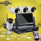 7 Дюймов Displayer 4CH 960 P Беспроводной Системы ВИДЕОНАБЛЮДЕНИЯ Беспроводной NVR Ip-камера ИК-CUT Пуля Главная ВИДЕОНАБЛЮДЕНИЯ Системы Безопасности Комплект Hiseeu