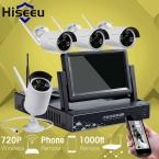 7 Дюймов Displayer 4CH 720 P Беспроводной Системы ВИДЕОНАБЛЮДЕНИЯ Беспроводной NVR Ip-камера ИК-CUT Пуля Главная ВИДЕОНАБЛЮДЕНИЯ Системы Безопасности Комплект Hiseeu