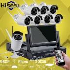 7 Дюймов Displayer 8-КАНАЛЬНЫЙ 960 P Беспроводной Системы ВИДЕОНАБЛЮДЕНИЯ Беспроводной NVR Ip-камера ИК-CUT Пуля Главная ВИДЕОНАБЛЮДЕНИЯ Системы Безопасности Комплект Hiseeu