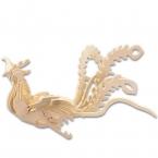 Детей Игрушки 3D Головоломки Деревянные Игрушки Для Детей Китайский феникс Лучший Монтессори Educationaly Diy Игрушки В Качестве Подарка Для дети