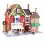 Дерево DIY Сборки Игрушки Деревянная Модель Трехмерной 3D Пазлы Развивающие Игрушки для Детей Замок Модели Головоломки