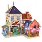 Деревянные шале британский магазин музыкальных инструментов 3D головоломки игрушки образовательных деревянные головоломки