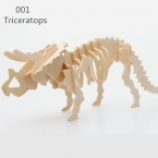 Динозавров 3D Деревянные Головоломки DIY Имитационная Модель Образования Детей Игрушки 3D Головоломки Дети Подарки Бесплатная Доставка