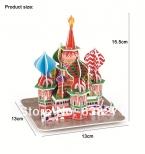 Продажи Magic 3D Головоломки, Детские Развивающие Игрушки DIY Бумаги Головоломки Для Детей Взрослых House Замок Знаменитое Здание