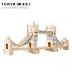 Эйфелева Башня 3D Деревянные Головоломки Игрушки Тауэрский Мост Деревянные Головоломки 3D Здание Головоломки Древесины Educationsl Игрушки для Детей Взрослые Игры
