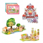 Детские Игрушки 3D Головоломки Сказки Серии Игрушка-Головоломка для Детей Бумажная Модель Строительство Комплекты Развивающие Игрушки Подарок На День Рождения головоломки
