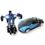 1:14 RC Деформации Робот Автомобиль Bugatti Дистанционного Управления Игрушки, Радиоуправляемые Машины USB Аккумуляторная Батарея 27 МГц MZ001