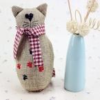 Корея Милый Белье Cat Игрушки Ткань Куклы Детские Игрушки для Детей Подарки На День Рождения Партии Декор Мягкие Игрушки Из Мультфильма