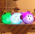 Светящиеся световой свет игрушки обезьяна лягушка кошка фаршированные плюшевые игрушки куклы подушка подушка подарок на день рождения