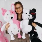 Розовый и Белый Monomi Кролик Плюшевые Игрушки Прибытие Danganronpa: Trigger Happy Havoc Медведь Кролика Dangan Ronpa Monokuma Игрушки куклы