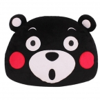 Япония Талисман Kumamon Медведь Плюшевые Подушки Игрушки Аниме очаровательны Мультфильм Черный Медведь Голову Мягкий Фаршированные Плюшевые Куклы Детские подарки