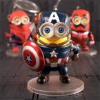 10 см Миньон Фигурку Игрушки, X-men Американский Капитан Ironman Spideman Рис Модель, Гадкий я Рисунок Косплей Мстители
