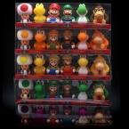 6 шт./компл. Super Mario Bros Луиджи Марио Йоши Игрушки Для Ванной 7 см ПВХ Супер Марио Фигурку Модель, аниме Brinquedo, в Коробке