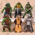 6 шт./лот 5 см Teenage Mutant Ninja Turtles Герой Фигурку Игрушки, 2 inch ПВХ ЧЕРЕПАШКИ-НИНДЗЯ Рисунок Модель, аниме Brinquedos, детские Игрушки