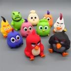 11 шт./лот 6-7 см ПВХ Crazy Birds Фигурку Игрушки, симпатичные Crazy Birds Кулон Рисунок Модель, аниме Brinquedos, игрушки Для Детей