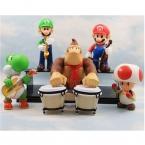 5 шт./компл. ПВХ 8-12 см Super Mario Bros Луиджи Марио Действий и Игрушки Фигура, Donkey Kong Mushtoon Дракон Рисунок Игрушки, аниме Brinquedos