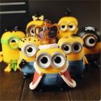 8-12 см Funko POP Миньоны Фигурку Игрушки, ПВХ Гадкий я Король Рисунок Модель, аниме Brinquedos, игрушки Для Детей