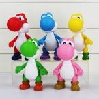 12 см Super Mario Bros Йоши Рисунок ПВХ Модель Фигурку Игрушки, Super Mario Фигура Модели, игрушки Для Коллекции, детские Игрушки