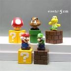 5 шт./лот 5 см Super Mario Bros ПВХ Фигурку Игрушки, Super Mario Фигура Модели, игрушки Для Детей, подарок Игрушки