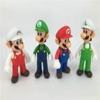 12-13 см Super Mario Bros Луиджи Марио Фигурку ПВХ Super Mario Рис Модель Кукла, фигура Игрушки Для Детей/Дети