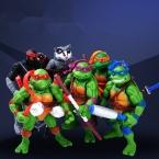 6 шт./лот TMNT Teenage Mutant Ninja Turtles Фигурку Игрушки 11 см ПВХ Аниме Рисунок Модель Игрушки Для Коллекции