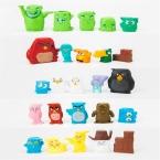 25 шт./лот 2-3 см ПВХ Мультфильм Фигура Птицы и Свиньи, аниме Brinquedos, Crazy Birds Фигурку Игрушки, детские Игрушки