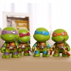 4 шт./лот TMNT Teenage Mutant Ninja Turtles TMNT Фигурку Игрушки 7 см ПВХ Рисунок Модель Игрушки Для Детей Аниме Brinquedoes