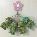 4 шт./лот 6 см ПВХ Подросток Mutant Ninja Turtles Фигурку Игрушки, 2.4 inch ЧЕРЕПАШКИ-НИНДЗЯ Рисунок Модель and Key Chain, аниме Brinquedos